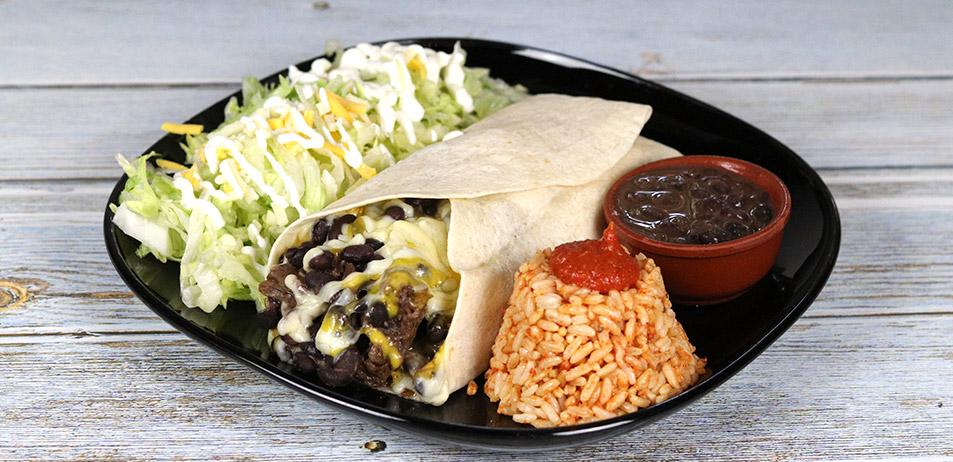 """Burrito <span style=""""color:#009f9a"""">8.00€</span>"""