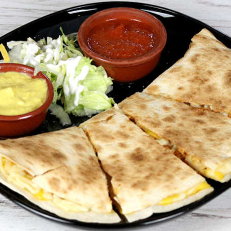 "Quesadillas vegetal <font color=""#009f9a"">7€</font>"