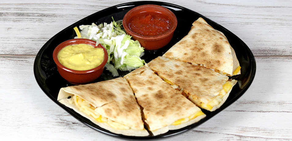 "Quesadillas <span style=""color:#009f9a"">5.00 a 7.00€</span>"